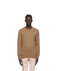 Burberry Tan Cashmere Monogram Motif Sweater