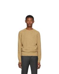 Prada Tan Shetland Wool Sweater