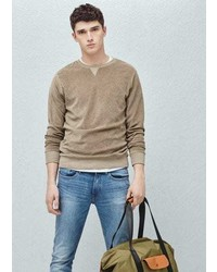 Mango Outlet Velour Sweatshirt