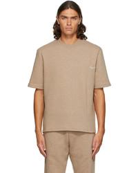 Ermenegildo Zegna Beige Reconnect Mono T Shirt