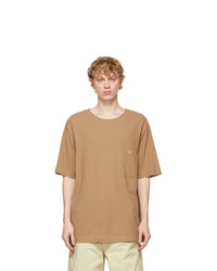 Lemaire Brown Crepe Jersey T Shirt