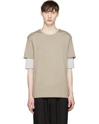 Attachment Khaki Double Layer T Shirt