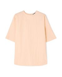 Jil Sander Oversized Crinkled Taffeta T Shirt