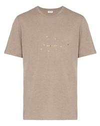 Saint Laurent Star Logo Print T Shirt