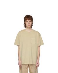 John Elliott Tan Loose Stitch Pocket T Shirt