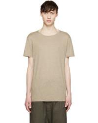 Balmain Tan Raw Silk T Shirt