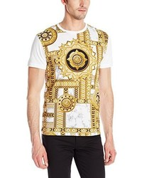 Versace Jeans All Over Pattern Crew Neck Short Sleeve T Shirt