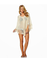 Elan beach crochet trim poncho medium 173075