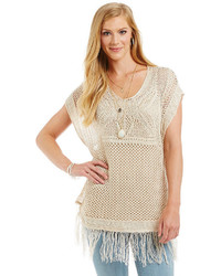 Ne World Apparel Crochet Poncho Top