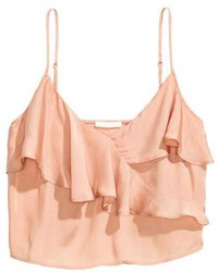 H&M Flounced Crop Top