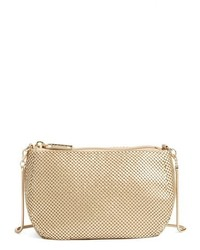 Whiting & Davis Matte Mesh Crossbody Bag Black
