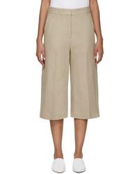 Beige linen culottes medium 526942
