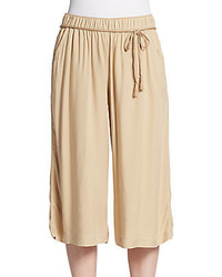 Belted crepe culottes medium 329256