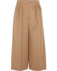 Cashmere wide leg culottes camel medium 5172886
