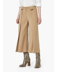 Mango Outlet Cropped Palazzo Trousers
