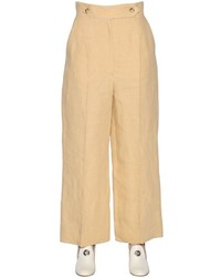 Cropped wide leg linen pants medium 3706134