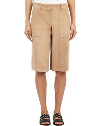 Theory Suede Culottes Nude