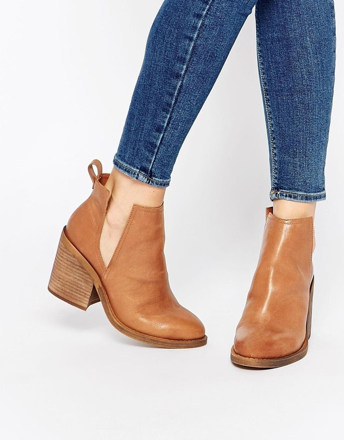 d892f76246e1a Windsor Smith Sharni Tan Leather Cut Out Ankle Boots, $215 | Asos ...
