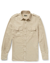 Tom Ford Slim Fit Washed Cotton Twill Shirt
