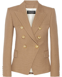 Tan Double Breasted Blazer