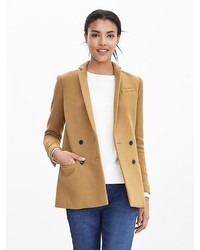 Banana Republic Camel Double Breasted Blazer