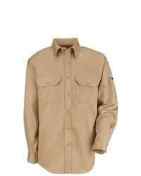 BULWARK FR Clothing Bulwark Uniform Shirt Excel Fr Cooltouch 6 Oz Khaki