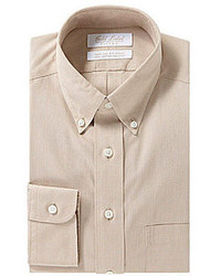 Roundtree & Yorke Gold Label Fitted Button Down Collar Dress Shirt