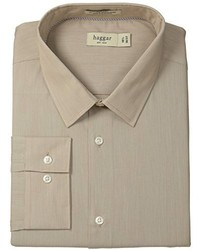 Haggar Fitted Mechanical Stretch Solid Long Sleeve Dress Shirt