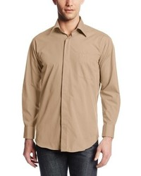 Stacy Adams Long Sleeve Standard Fit Dress Shirt With Hidden Buttons