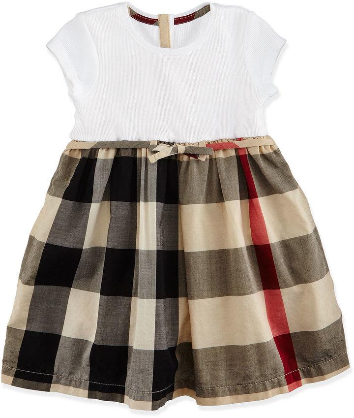 148b9bbbecf2 Girls  Fashion › Dresses › Neiman Marcus › Burberry › Tan Dresses Burberry  Cap Sleeve Check Skirt Combo Dress Tan Size 3m 3 ...