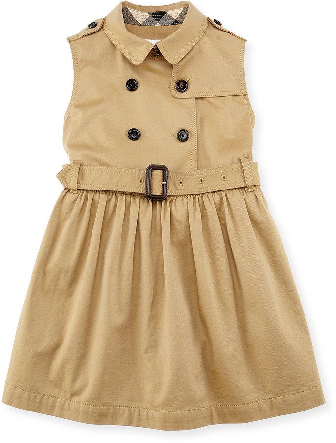 58f0c39bdaed Burberry Iliana Sleeveless Trench Dress Amber Girls 4 14