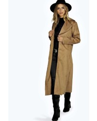 Boohoo Lexi Bonded Suedette Duster Coat