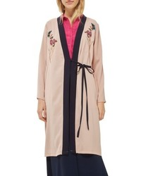 Topshop Tiger Embroidered Duster Coat