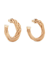 Rosantica Mamba Gold Tone And Wicker Hoop Earrings