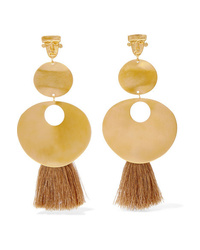 Johanna Ortiz Paula Doza Cano A Taste Of Spring Fringed Gold Tone Earrings