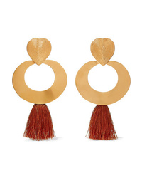 Johanna Ortiz Paula Doza Cano Olive Trees Fringed Gold Tone Earrings