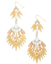 Adia Kibur Stone Fan Drop Earrings