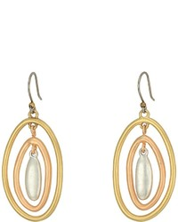 Lucky Brand Tri Tone Orbital Earrings Earring