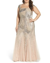 Plus size embellished gown medium 1195698