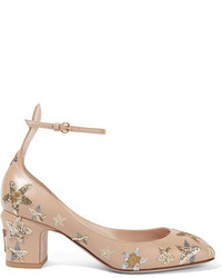 Tango embellished leather pumps beige medium 828943