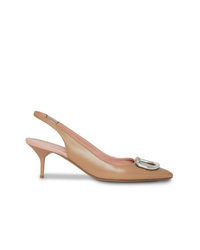 Burberry The Patent Leather D Ring Slingback Pump