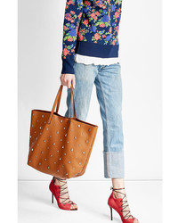 RED Valentino Red Valentino Embellished Leather Tote