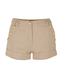 Balmain Button Embellished Cotton And Shorts