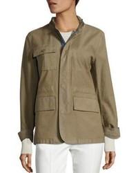 Tory Burch Lara Applique Army Jacket