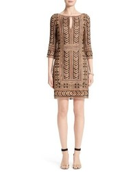 St. John Collection Priya Embroidered Shift Dress