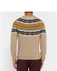 Gucci Knitted Wool And Cashmere Blend Fair Isle Sweater | Where to ...
