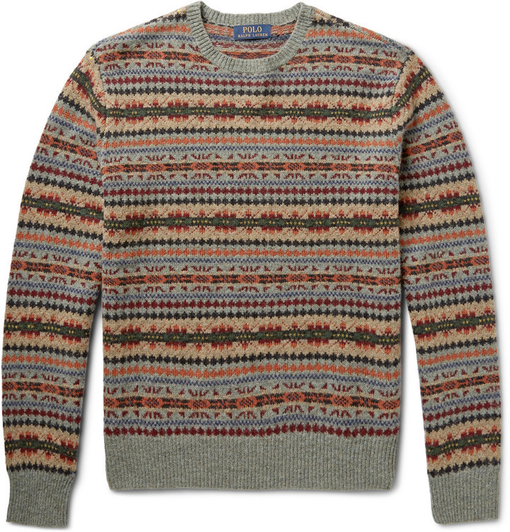 Polo Ralph Lauren Polo Ralph Lauren Fair Isle Wool-Blend Sweater ...