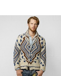 Denim & Supply Ralph Lauren Denim Supply Printed Shawl Cardigan
