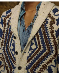 Denim & Supply Ralph Lauren Sweater Printed Shawl Cardigan