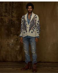 Denim & Supply Ralph Lauren Sweater Printed Shawl Cardigan